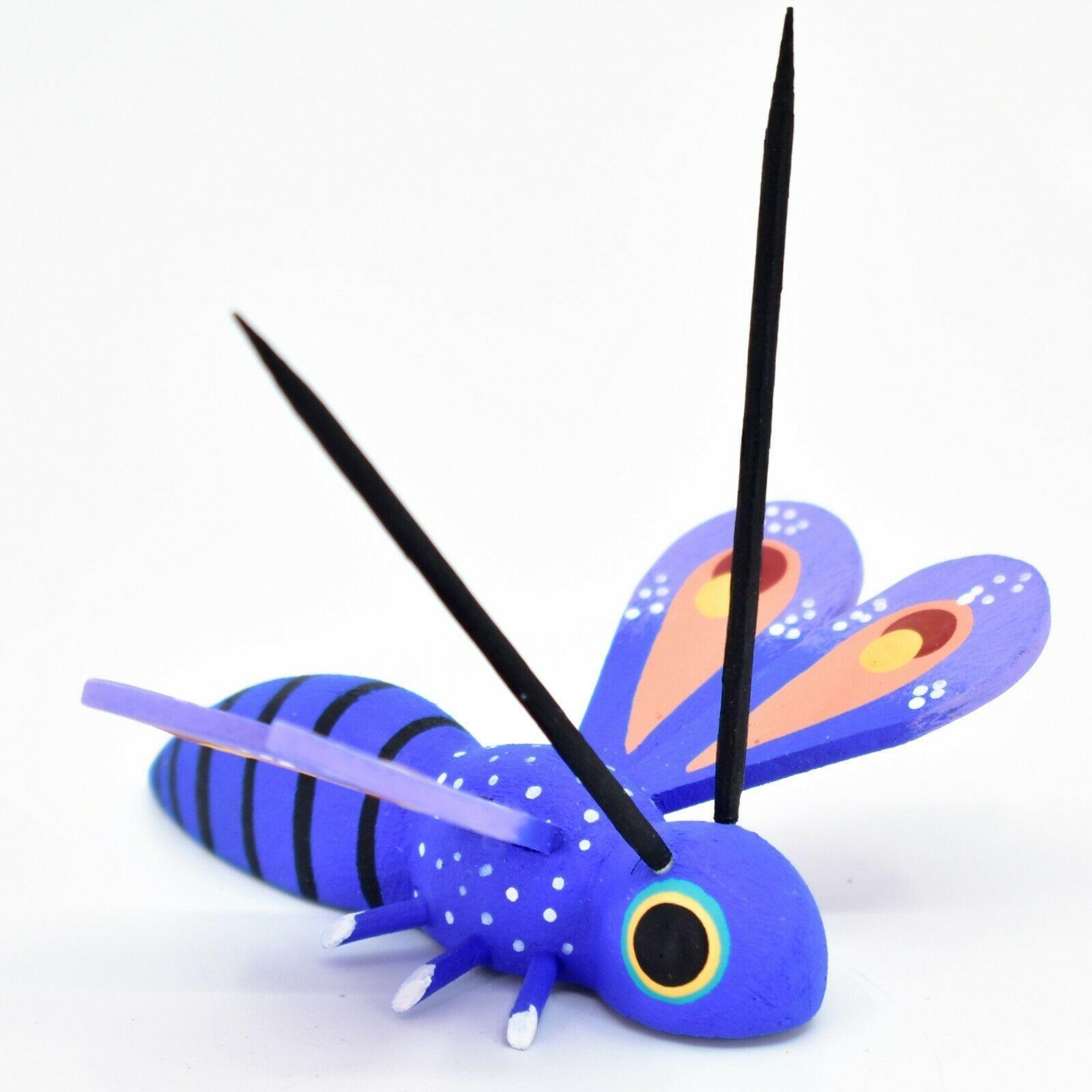Alebrijes Oaxacan Copal Wood Carved Painted Folk Art Butterfly Dragonfly Figure