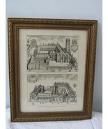 Perspective View of the College of St Mary Magdalen  & Brasenose College... - $92.83