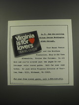 1991 Virginia Tourism Ad - p.5: See the exciting things George Washingto... - $14.99