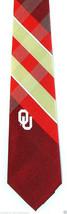 Oklahoma Sooners Men's Necktie College University Logo Red Plaid Neck Tie  - $31.68