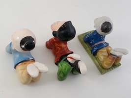 Occupied Japan Figurines Lot of 3 Asian Children Laying on their Belly's image 3