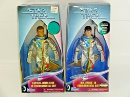 "Vintage Playmates Star Trek Kirk & Spock Environmental Suit 9"" Action Figures  - $42.22"
