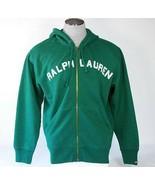 Ralph Lauren Signature Green Zip Front Hooded Jacket Sweatshirt Hoodie M... - $44.99