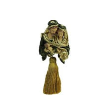"Roman 8"" Green Gold Holy Family Religious Tassel Christmas Ornament - $32.66"