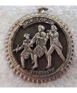 Vintage Spirit of '76 Bicentennial 1776 - 1976 Pendant Silvertone Patrio... - $9.95