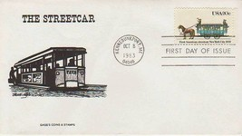 FIRST DAY COVER FDC 1983 150TH ANNIV. STREET RAILWAY 1ST AMERICAN STREET... - $3.51