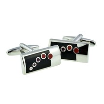 Black Silver & Red Bubbles  cufflinks great and unusual, gift ,  in gift box