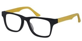 Reading Glasses Unisex Retro Style Black Yellow Acetate High c1219-black-yellow - $22.44+