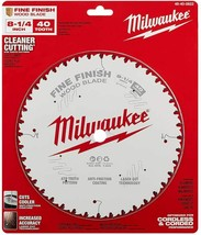 "Milwaukee - 48-40-0822 - 8-1/4"" 40T Fine Finish Circular Saw Blade - $49.45"