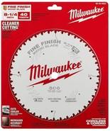 "Milwaukee - 48-40-0822 - 8-1/4"" 40T Fine Finish Circular Saw Blade - $49.45"