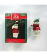 1991 Hallmark Keepsake Polar Classic White Bear Golfing Ornament - QX528-7 - $5.99