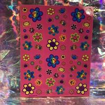 Vintage Lisa Frank Complete Sticker Sheet S496 Smile Flower Smilies DOPE AF image 1