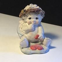 DREAMSICLES CHERUB FIGURINE CAST ART 1991 KRISTIN SIGNED BROKEN HEART ST... - $19.75