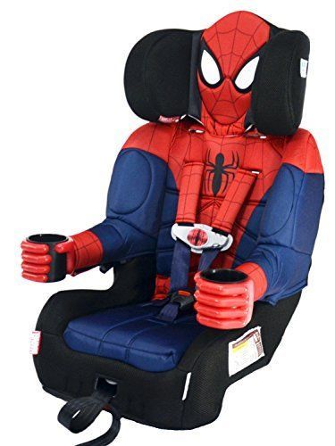 booster car seat toddler spider man marvel superhero harness cup holder e1125165022660323m. Black Bedroom Furniture Sets. Home Design Ideas