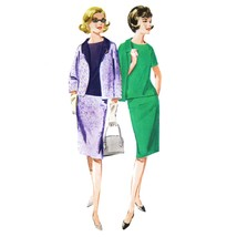 1960s Vintage Butterick Sewing Pattern 2949 Jacket Blouse Skirt Suit 14 ... - $6.95