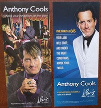 Lot of 2 Anthony Cools at Paris Hotel Las Vegas Promo Cards - $2.95