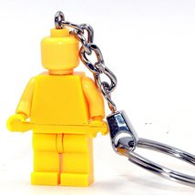 Limited Supplies Color Yellow Custom Made Keychain Ring Lego Toys Minif... - $4.99