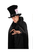 MAGICIANS BLACK OVER-SIZED VELOUR TOP HAT WITH A RABBIT - $25.00