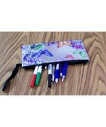 Make Up Bag, Pencil Case, Plastic Pouch, Butterfly Pouch, - $7.00