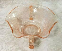 Old Vintage 30s Florentine #1 Pink Depression by Hazel Atlas Cream Soup Nut Bowl image 6