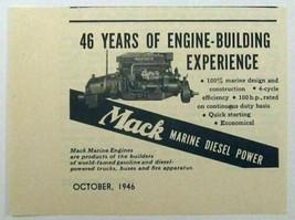 1946 Print Ad Mack Marine Diesel Engines 46 Years of Experience - $9.09