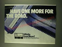 1978 Gillette Good News! Twin-blade disposable razor Ad - $14.99