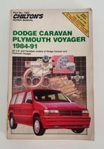 Chilton Dodge Caravan Plymouth Voyager 1984-91 Repair Manual #7482 - $7.99