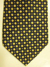 NEW Brooks Brothers Dark Blue With Small Yellow Diamonds Neck Tie USA - $37.49