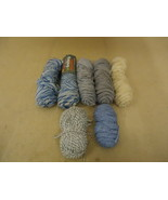 Standard Knitting Yarns Multiple Colors Lot of 7 Wool Acrylic - $23.95
