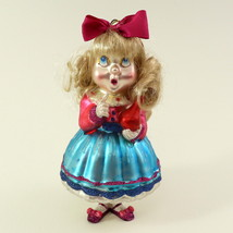 Hand Blown Glass Christmas Ornament of a little Girl  image 1