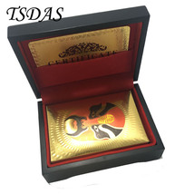 Colorful Theatrical Mask Plastic Playing Card Gold Foil Plated With Wood... - $15.00
