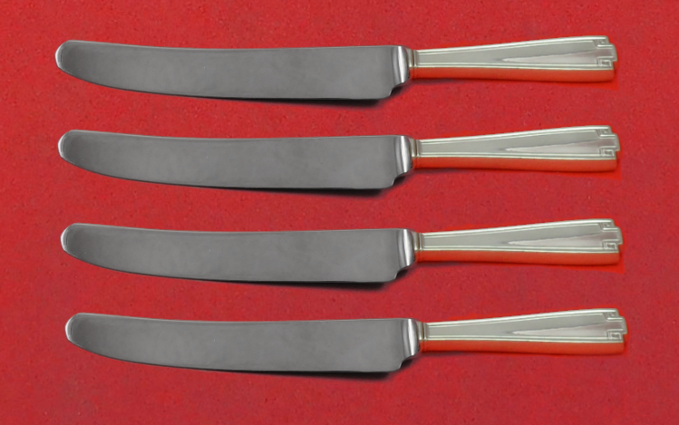 """Etruscan by Gorham Sterling Silver Fruit Knife Set 4pc Custom Made 7"""" HHWS - $279.00"""