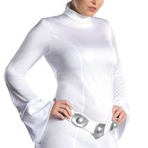 Deluxe Princess Leia Costume Adult Star Wars Halloween Costume Includes Wig image 4