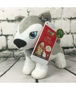 Portable North Pole Okidä Santa's Playful Husky Puppy Christmas Plush To... - $16.03
