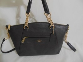 Coach Chain Prairie Chestnut Pebbled Leather Satchel Shoulder Bag AP505 ... - $155.55