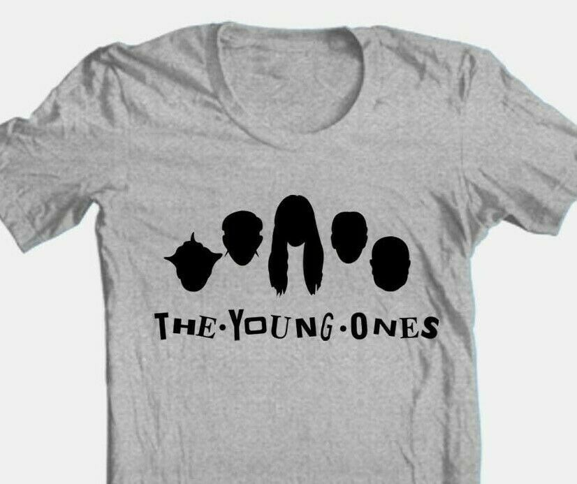 Young Ones T-shirt retro 1980s British TV show cotton blend graphic grey tee