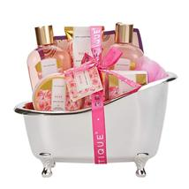 Spa Gift Basket, Rose Bath Gift Baskets, Luxury 8 Pcs Bath and Body Gift... - $50.00