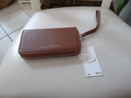 Adrienne Vittadini brown zip around wallet wristlet NWT - $13.50