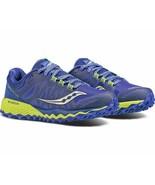Saucony Peregrine 7 Women's Running Shoe Blue/Citron, Size 10.5 M - $59.39
