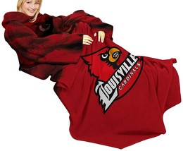 The Northwest Company NCAA Louisville Cardinals Comfy Throw Blanket with Sleeves - $28.05