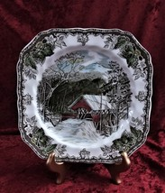 Vintage Johnson Brothers Friendly Village Square Salad Plate Covered Bridge - $11.99