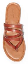 NEW Universal Thread Women's Cognac Maritza Multi Strap Toe Slide Sandals image 3
