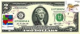 MONEY US $2 DOLLARS 2013 STAMP CHICAGO CANCEL LOVE PETS GECKOS GEM UNC image 1