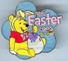 Disney Pin 36959 DLR Easter 2005 Winnie the Pooh dressed in bunny costum... - $60.65