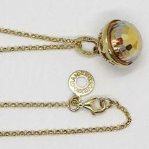 Chain 80 cm Silver Pendant 925 Mexican Bola Yellow Roberto Giannotti SFA200E image 3