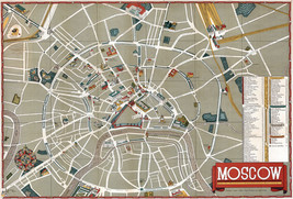 Early Pictorial Street Map Moscow Russia Wall Poster Print Decor Vintage... - $13.00+