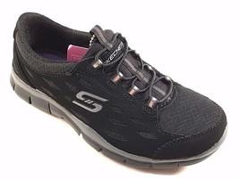 Skechers 22604 Black Air Cooled Memory Foam Slip On Sneakers - $64.00