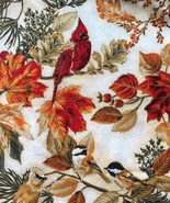 4 Total Yds, Per Yard, Hoffman, Birds, Cardinal Chickadee, Pine, Autumn Leaves - $5.31