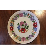 "KALOCSA HAND PAINTED PORCELAIN DECORATED BEAUTIFUL WALL PLATE 7 3/4"" - $74.25"