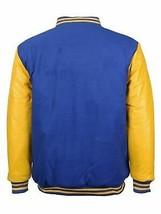Men's New W/Defect Vintage Baseball Letterman Snap Button Varsity Jacket
